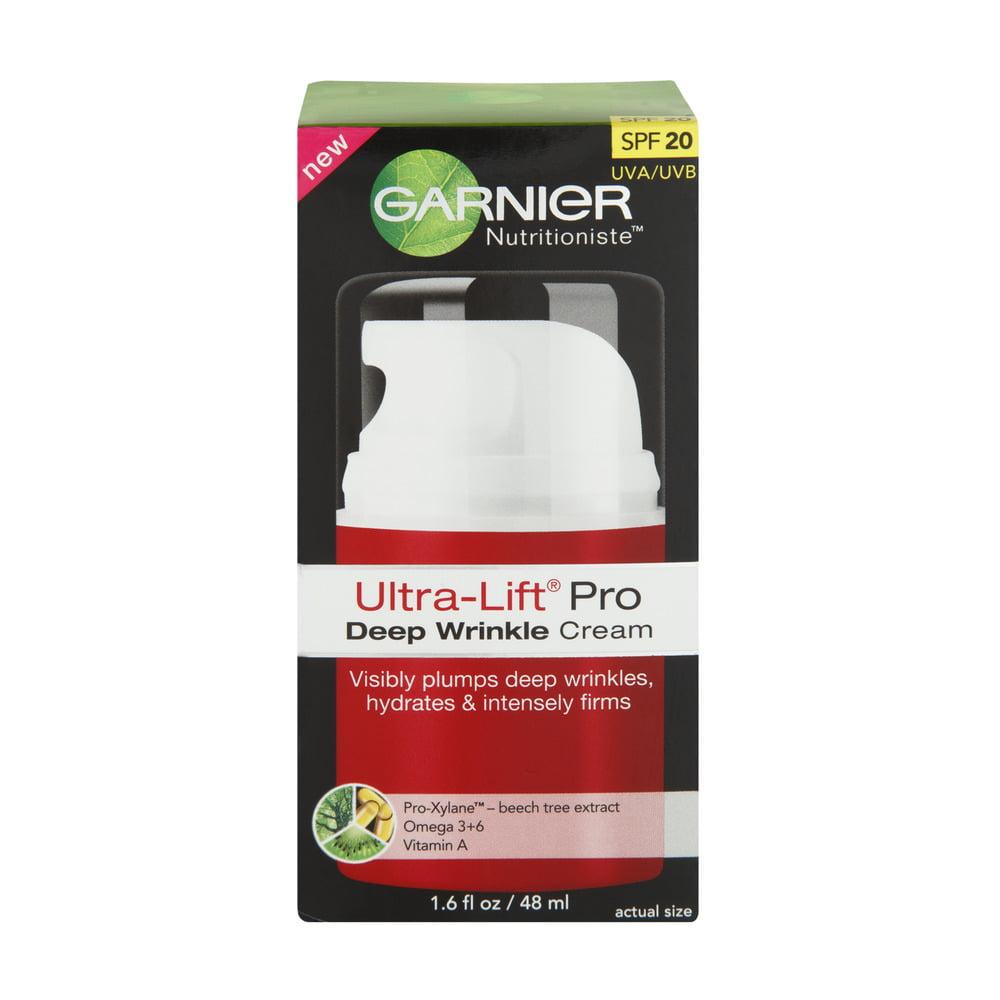 Garnier Nutritioniste Ultra-Lift Pro Deep Wrinkle Cream with SPF 20 UVA/UVB, 1.6 FL OZ