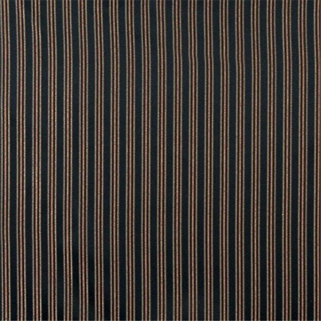 Designer Fabrics E652 54 in. Wide Striped Black, Gold, Green And Orange Damask Upholstery And Window Treatment Fabric