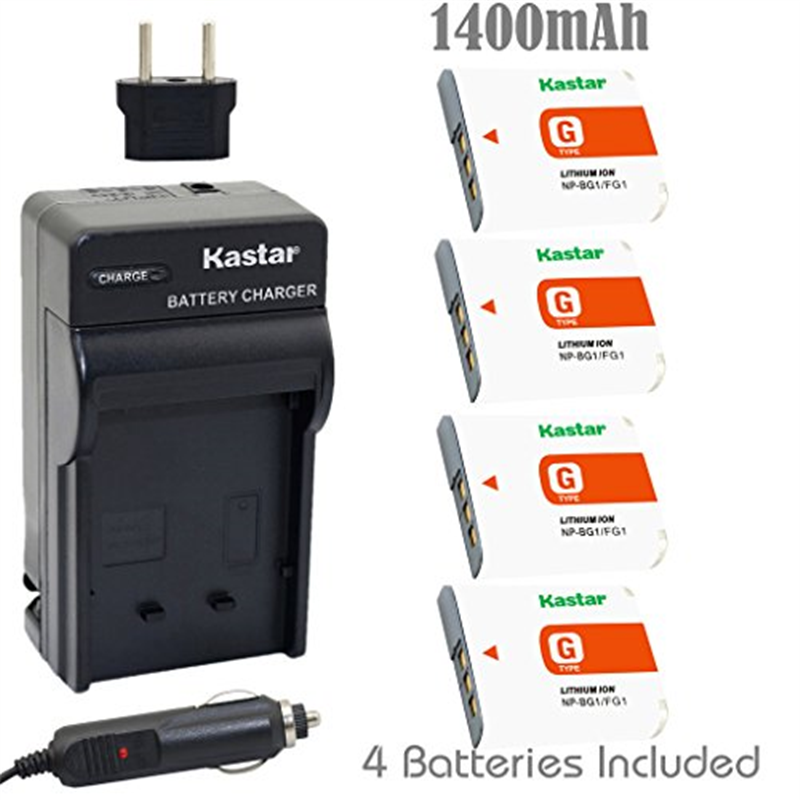 Kastar NP-BG1 Battery (4-Pack) and Charger Kit for Sony N...