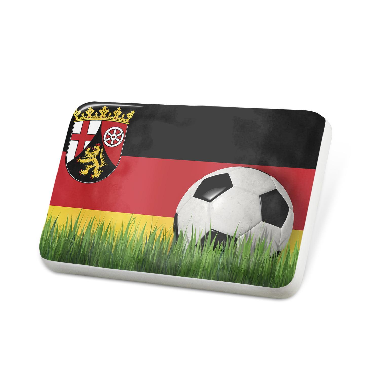 Porcelein Pin Soccer Team Flag Rheinland-Pfalz region Germany Lapel Badge – NEONBLOND