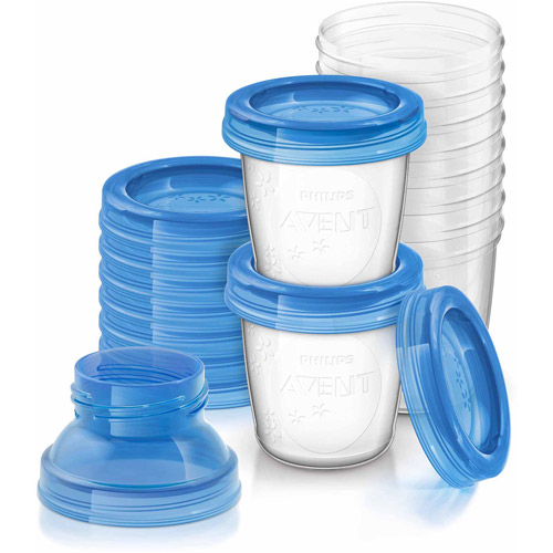 Philips Avent 6-Ounce Breast Milk Storage Starter Set, BPA-Free, 10-Pack, SCF618/10