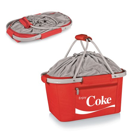 Picnic Time Coca-Cola Metro Basket Collapsible Cooler (Picnic Time Tote)