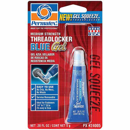 Permatex .20-oz Blue Medium Strength Threadlocker