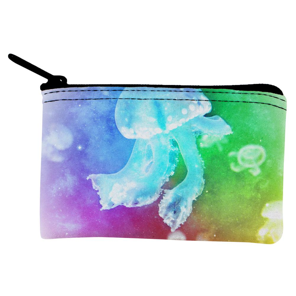 Womens Zip Around Wallet and Phone Clutch,Travel Purse Leather Clutch Bag Card Holder Organizer Wristlets Wallets,Graphic Jellyfish Pattern