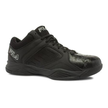 - Fila Bank Mens Black Low Top Athletic Basketball Sneakers Shoes