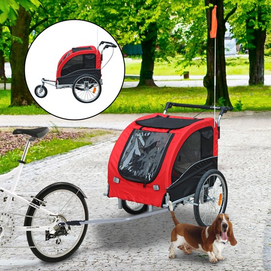 Aosom Elite II Pet Dog Bike Bicycle Trailer Stroller Jogger w ...