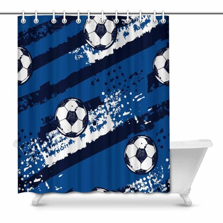 POP Abstract Football Pattern Home Art Paintings Bathroom Shower Curtain 66x72 inch - image 1 of 1