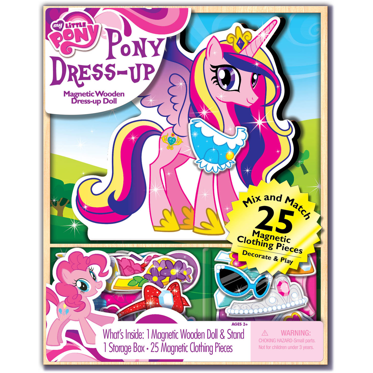 My Little Pony Dress-up Wooden Magnetic Play Set, 25pc