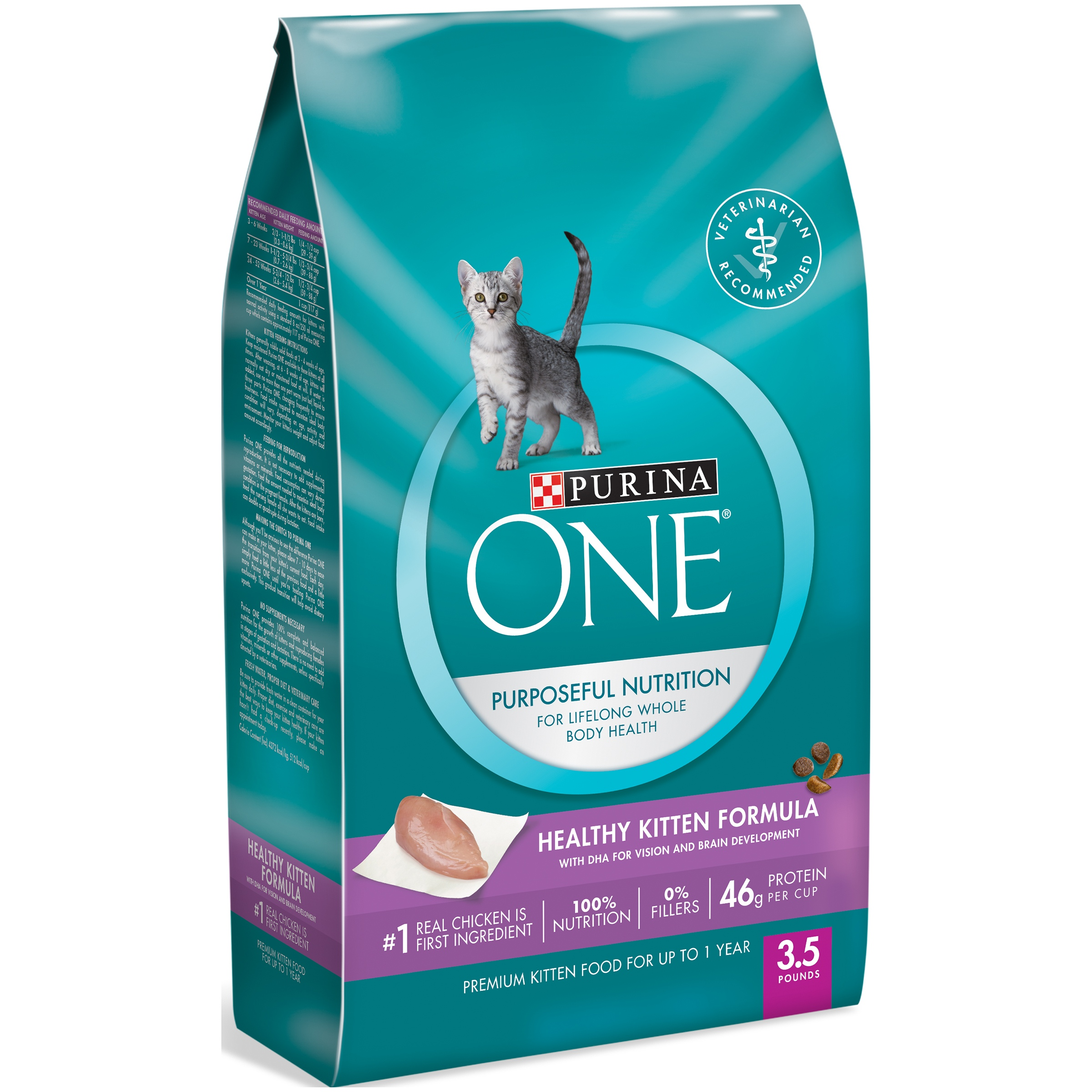 Purina ONE Healthy Kitten Formula Dry Kitten Food, 3.5 Lb