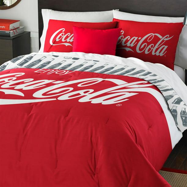 Coca Cola Logo Bedding Set Coke Bottles, Coca Cola Bedding