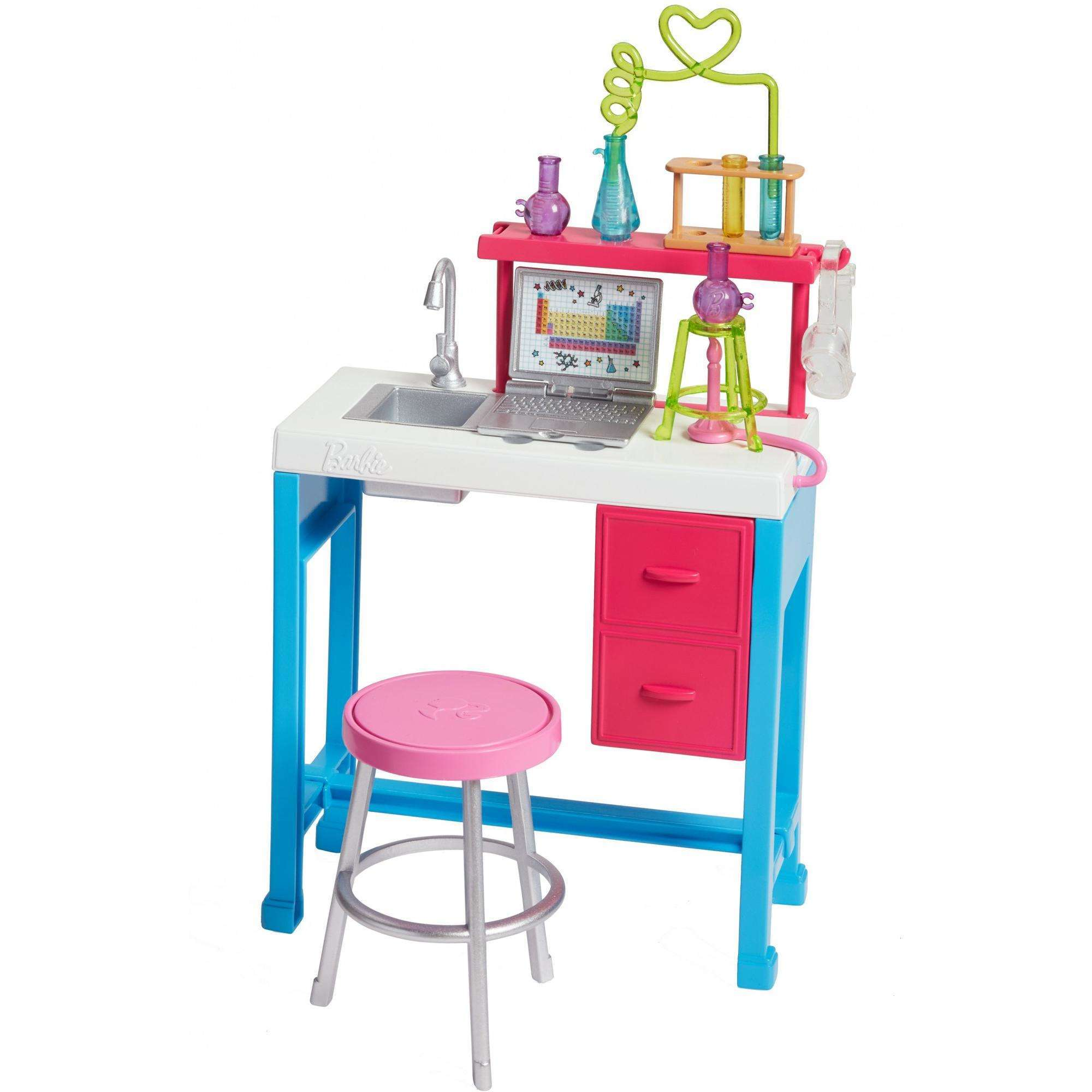 Barbie Career Science Lab Playset with Workspace Accessories