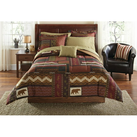 Mainstays Cabin Bed in a Bag Coordinated Bedding ()