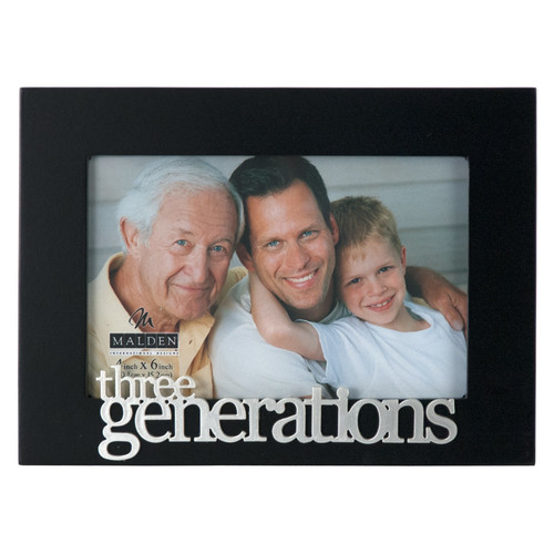Malden 4'' x 6'' Three Generations Picture Frame