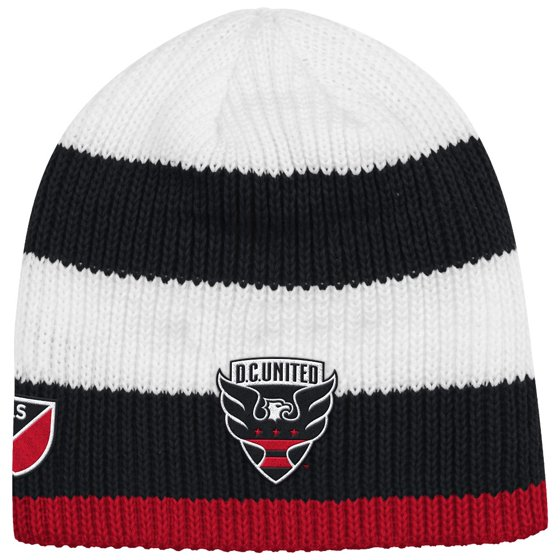 ea0eaf5fb9c D.C. United Adidas MLS Authentic Draft Cuffless Knit Hat - Walmart.com