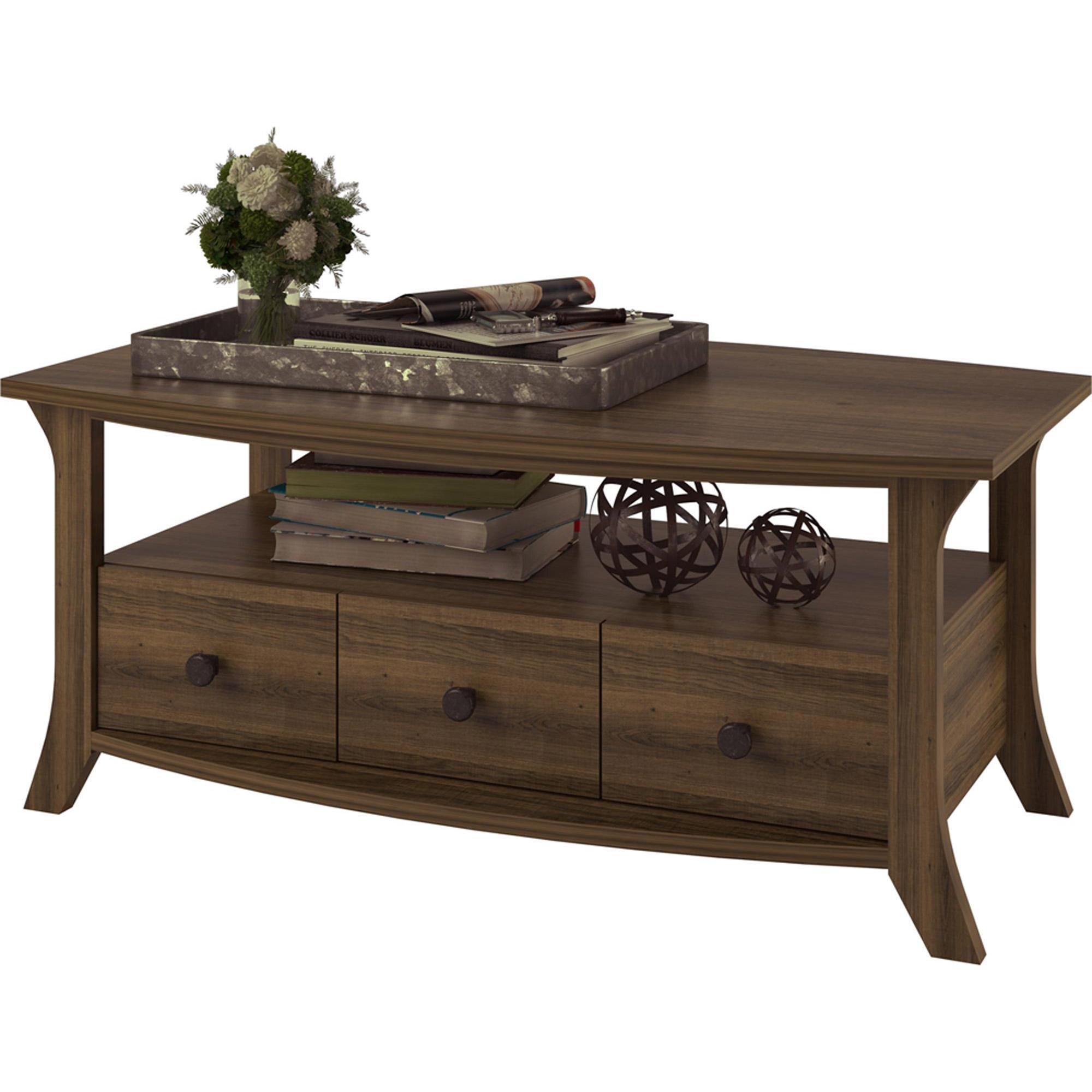 Oakridge Coffee Table by Altra Homestead Oak Walmart
