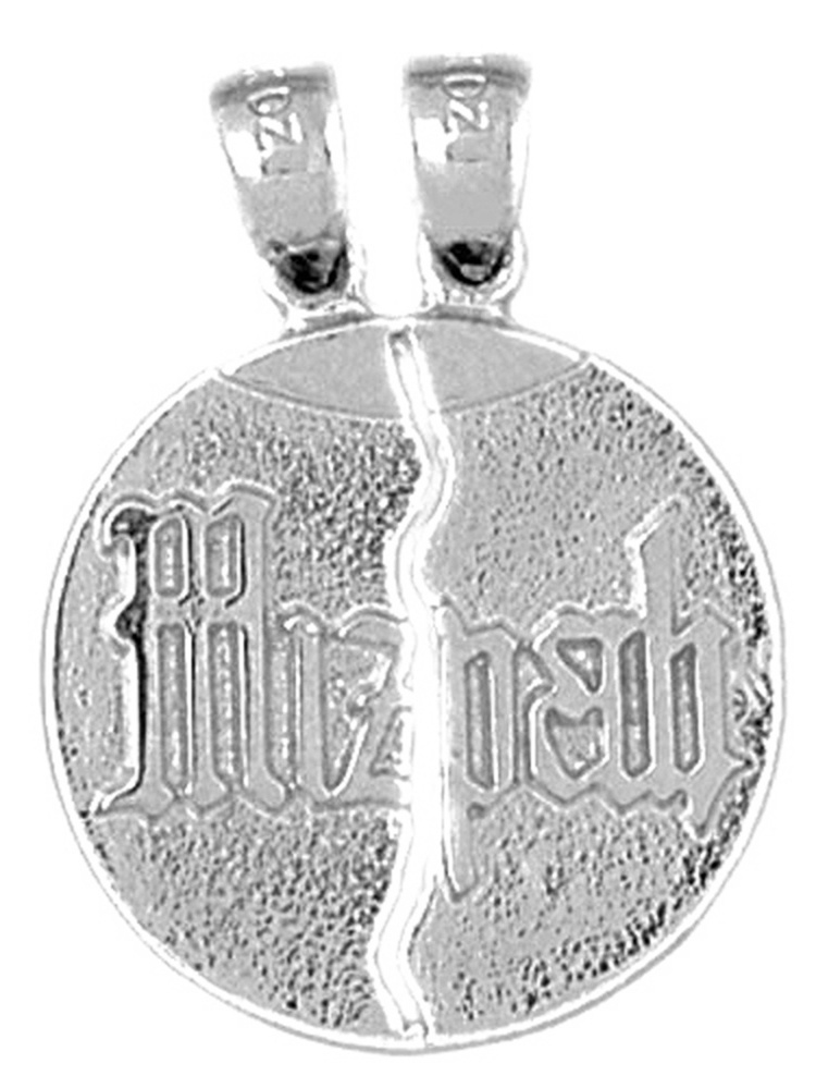 JewelsObsession Sterling Silver 30mm Mizpah Charm w//Lobster Clasp