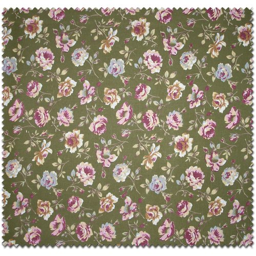 Large Rose Floral Print Fabric by the Yard