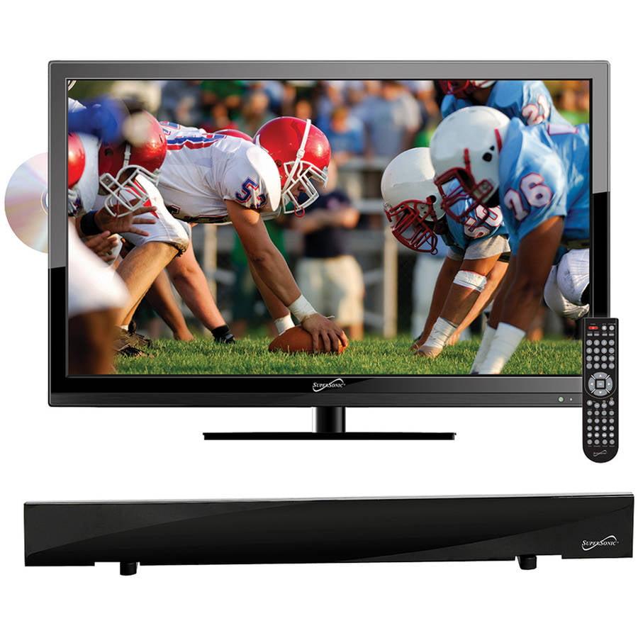 "Supersonic 18.5"" Class - HD LED TV/DVD Combo - 720p, 60Hz (SC-1912) and SC-612 HDTV Flat Digital Antenna"