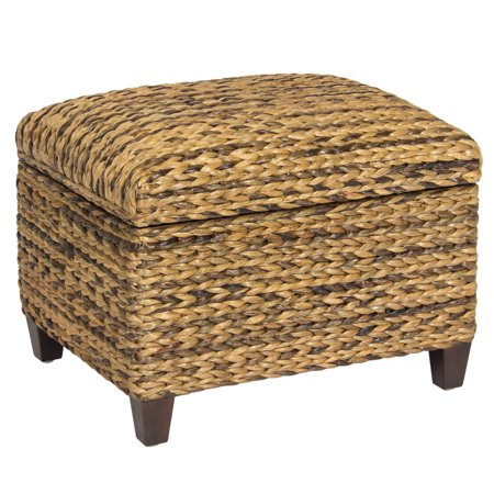 Best Choice Products Hand Woven Seagrass Storage Ottoman Home Furniture - Best Choice Products Hand Woven Seagrass Storage Ottoman Home