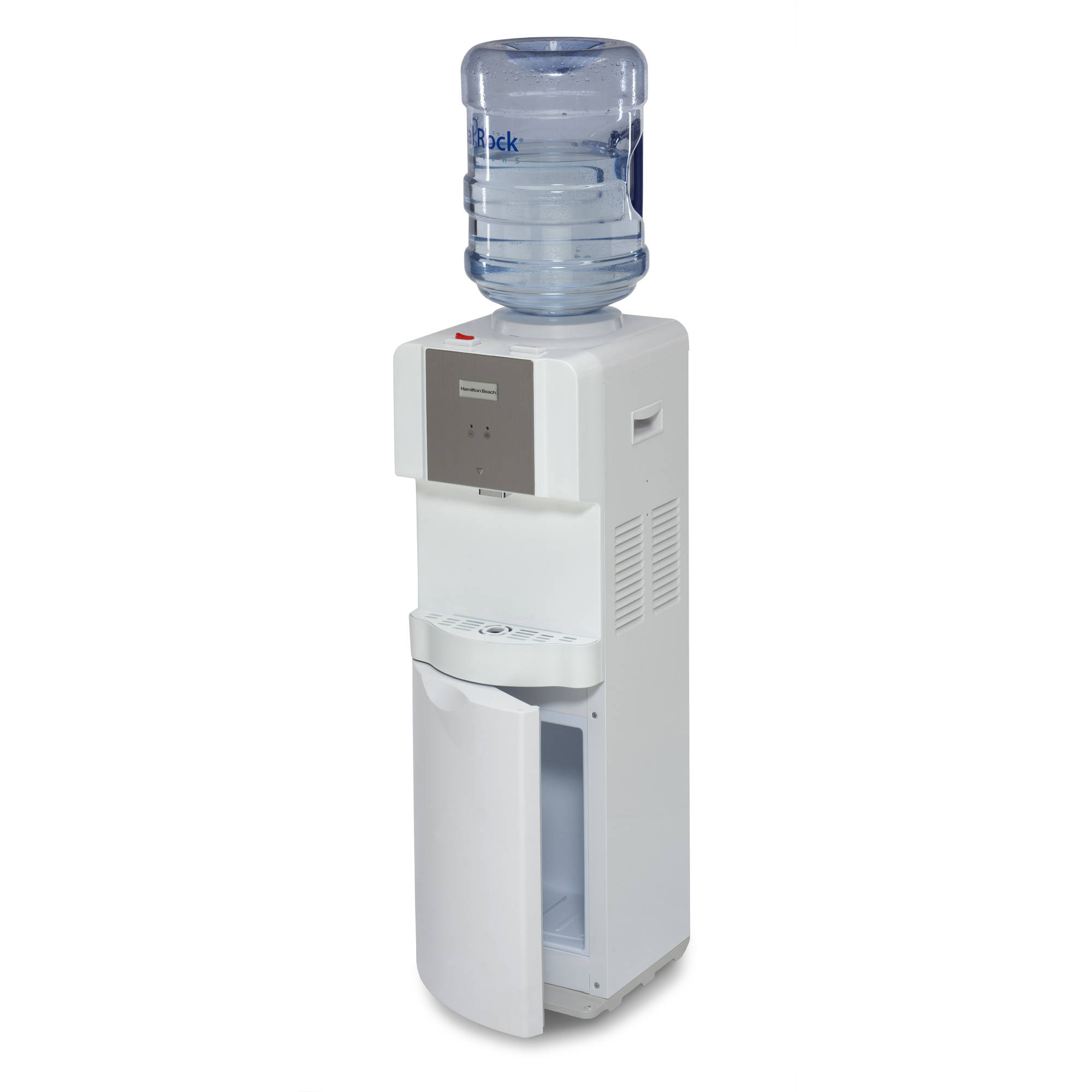 Hamilton Beach TL-1-4W Top Loading Water Dispenser with Storage Cabinet, Hot and Cold Temperatures, White