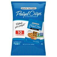 Snack Factory Pretzel Crisps Original Flavor, 1 Oz Snack Packs, 10 Ct