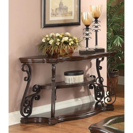 Occasional Traditional Dark Brown Sofa/Couch Table