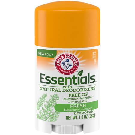 ARM & HAMMER Essentials Deodorant, with Natural Deodorizers, Fresh Rosemary Lavender, 1 OZ