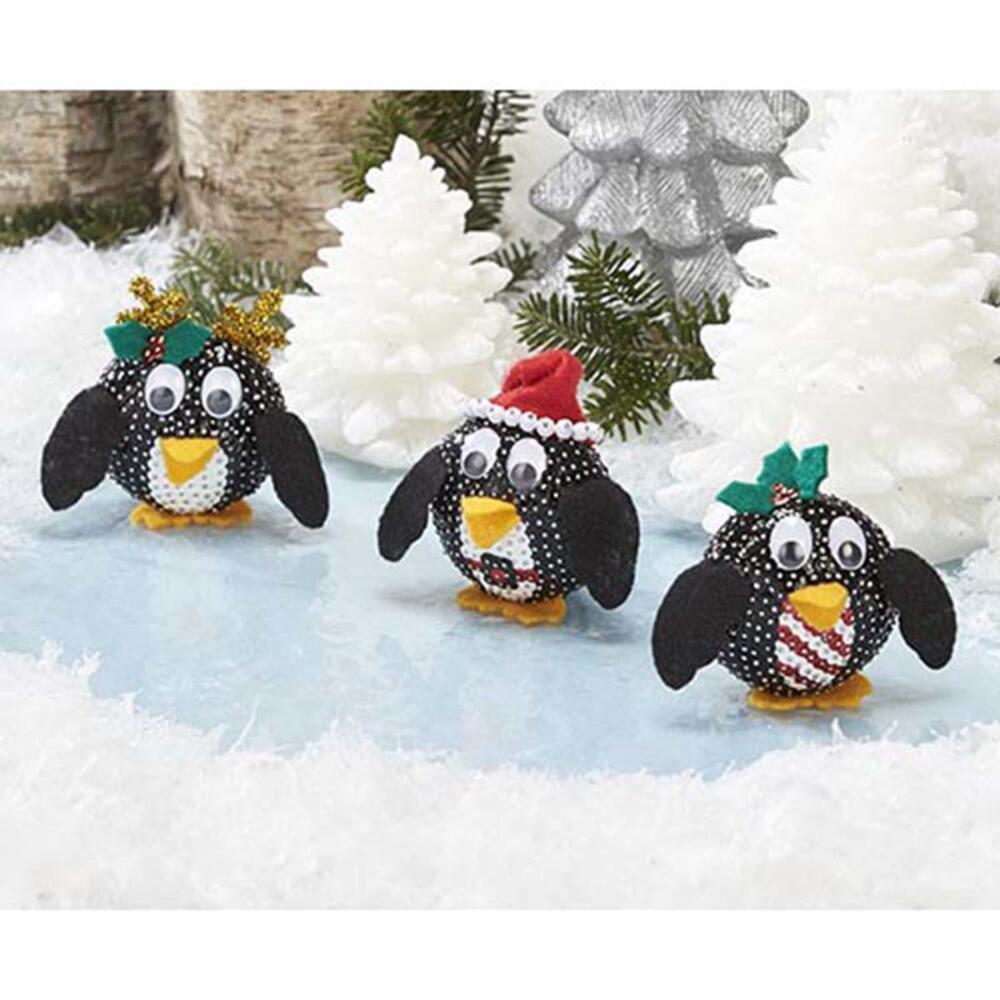 Sunrise Craft & Hobby Holiday Penguins Ornament Kit
