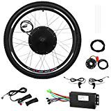 Esright 26 Bike Rear Wheel Electric Motor Bicycle Conversion Kit 48V 1000W (Electric Bicycle Motor Kit)