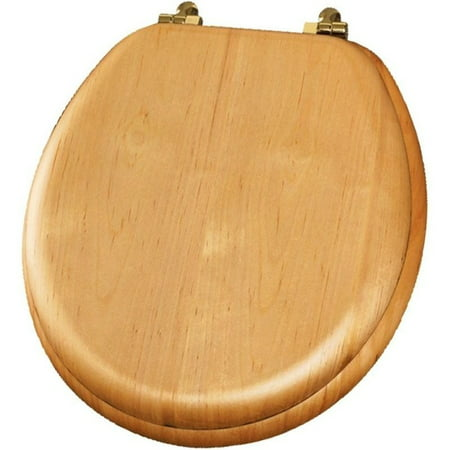 Mayfair 9601BR Natural Reflections Wood Round Toilet Seat, Available in Various Colors