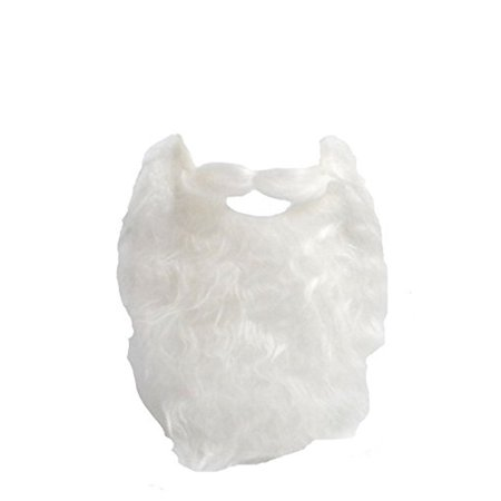 White Full Beard and Mustache Costume Accessory - Mustache Costume
