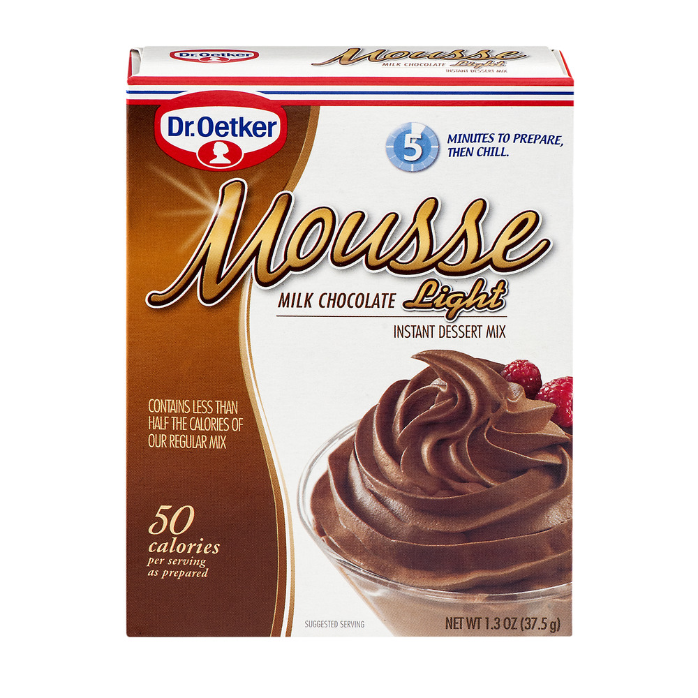 Dr. Oetker Mousse Light Instant Dessert Mix Milk Chocolate, 1.3 OZ by Dr. Oetker USA, LLC