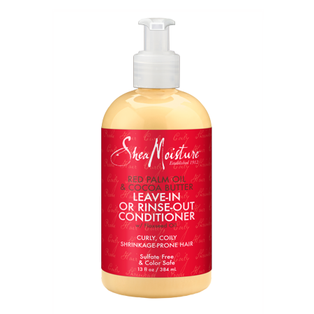 Red Palm Oil & Cocoa Butter Leave-In or Rinse-Out Conditioner - Moisturizes and Elongates 3-4c Hair - Sulfate-Free with Natural & Organic Ingredients - Softens and Hydrates Coily, Kinky Hair (Static Free Leave)