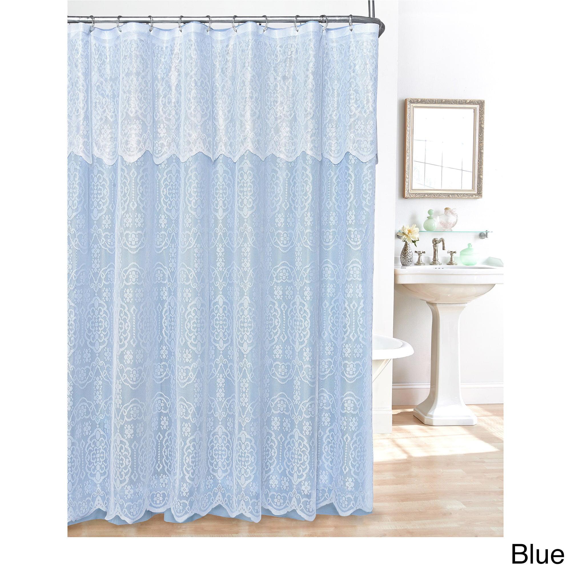 Lace Shower Curtain Beige Lace Shower Curtain - Walmart.com