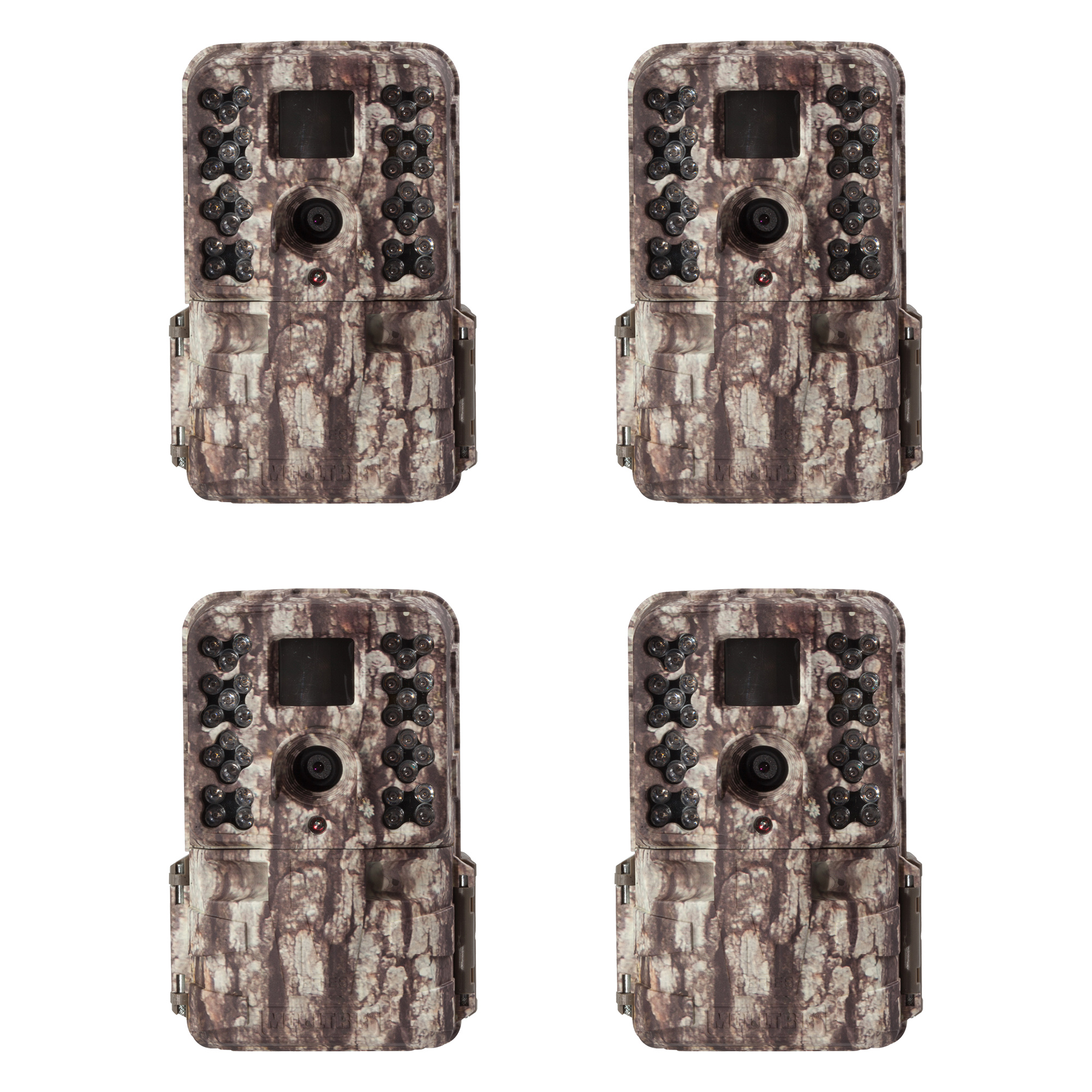 Moultrie M-40 16MP 80' FHD Video Infrared Game Trail Camera, 4 Pack | MCG-13181