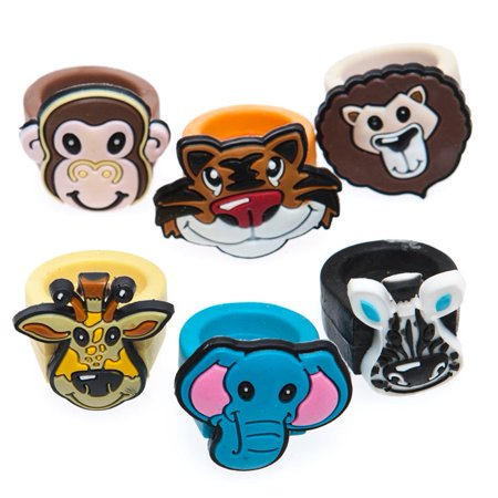 Zoo Animal Rubber Rings