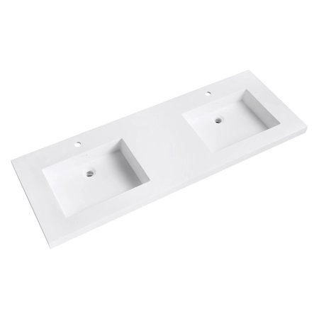 Double Sink Vanity Top (Avanity VersaStone 61 in. Acrylic Double Sink Vanity Top with Integrated)