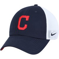 Cleveland Indians Nike Heritage 86 Team Trucker Adjustable Hat - Navy/White - OSFA