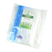 18 Vacuum Sealer Reusable Resealable Zipper Food Bags With 2 Sealing Clips