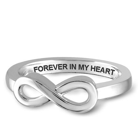Key To My Heart Ring (Forever In My Heart Infinity Ring In Sterling)