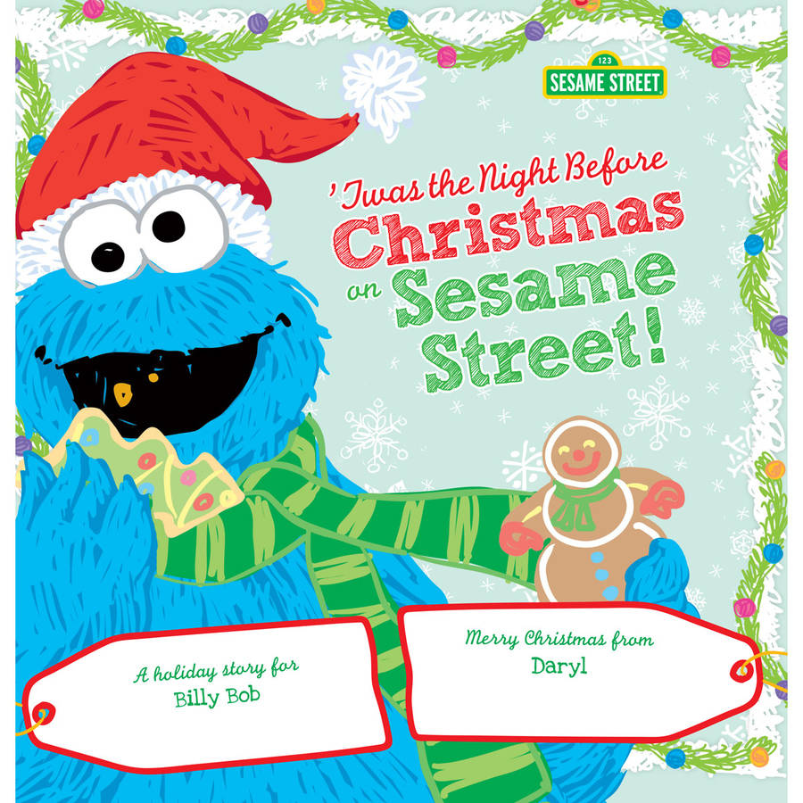 Twas the Night Before Christmas on Sesame Street Personalized Book by Generic