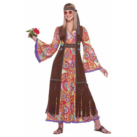 Hippie Love Child Adult Halloween Costume - Last Minute Hippie Halloween Costume
