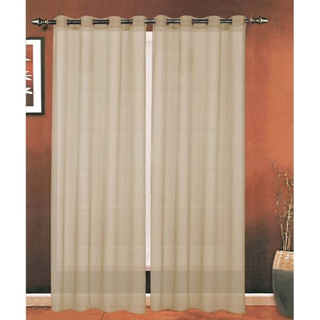 Celine Linen Luxury 2-Piece Grommet SHEER PANEL/CURTAIN - Window Curtains 54-inch width X 63-inch Length -  (Celine Buy)