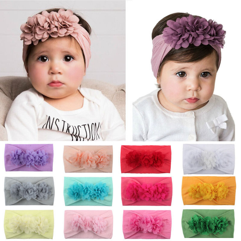 Soft Baby/ Girls Kids Toddler Bow Hairband Headband Turban Knot Head-Wrap