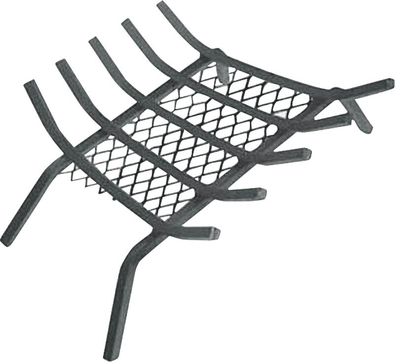 Homebasix 97275 Fireplace Grate, 13 in W x 26 in D x 6-1/4 in H, Steel