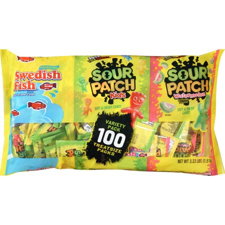 Halloween variety pack swedish fish sour patch kids 100 for Sour swedish fish