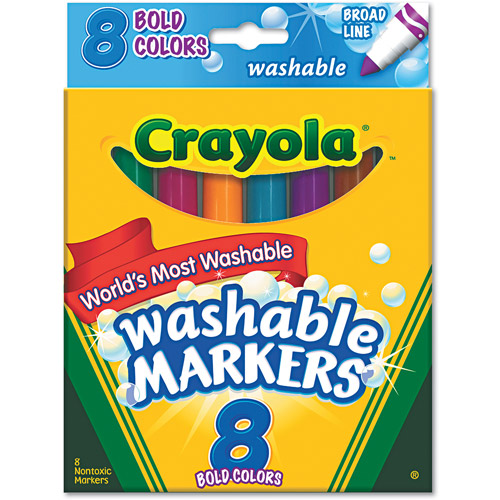 Crayola Bold Colors Washable Markers, 8-count