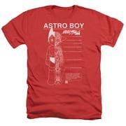 Astro Boy Schematics Mens Heather Shirt