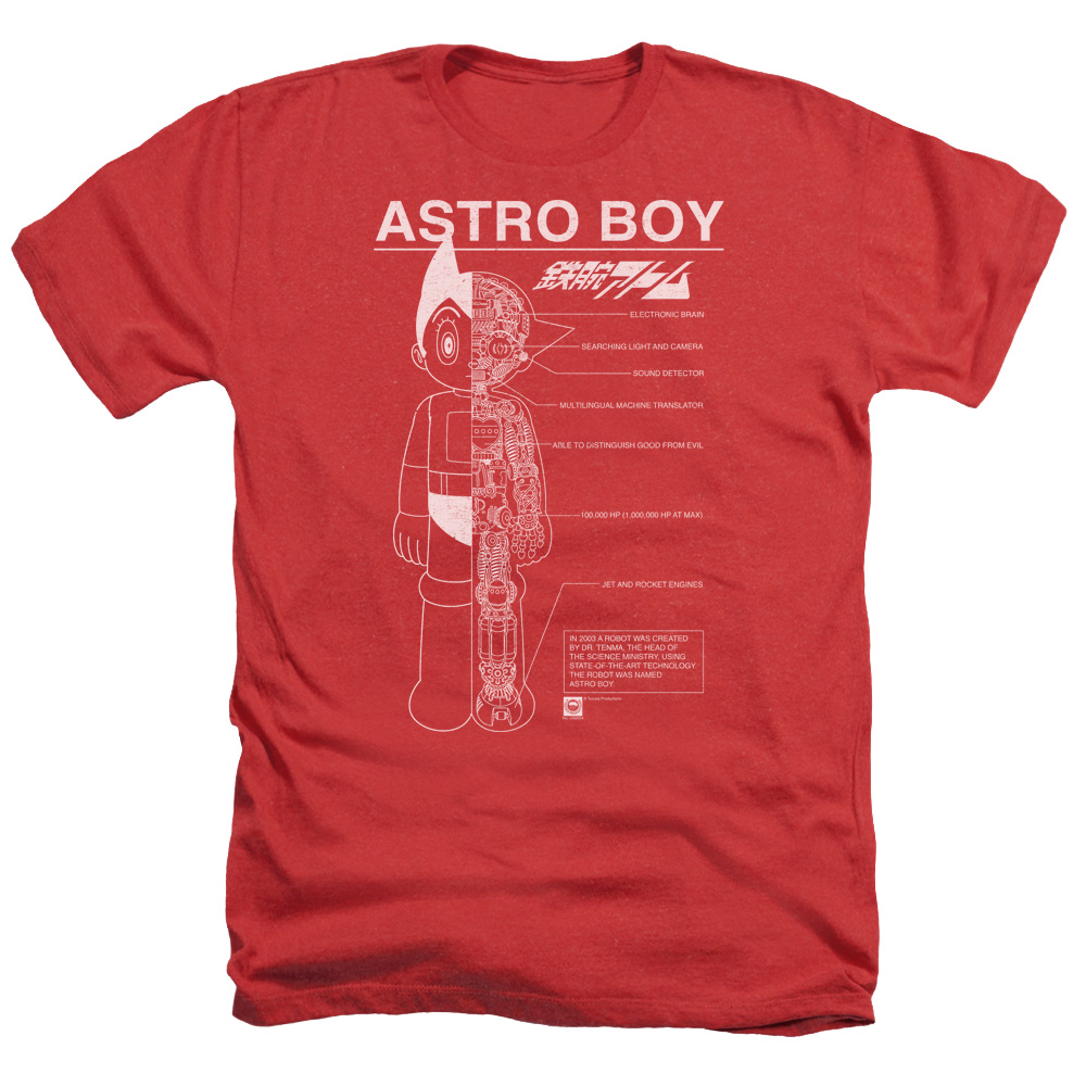 Astro Boy Schematics Mens Heather Shirt