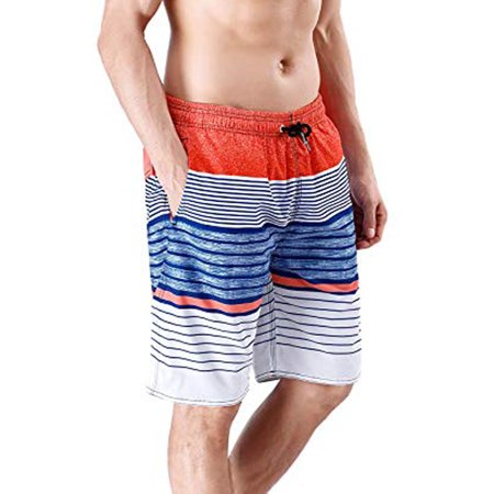 1eda158b437bb Lelinta - LELINTA Mens Swim Trunks Board Shorts Bathing Suits Elastic Waist  Drawstring with Mesh Lining - Walmart.com